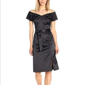 NWT Paris Sunday Black Off Shoulder Midi Dress